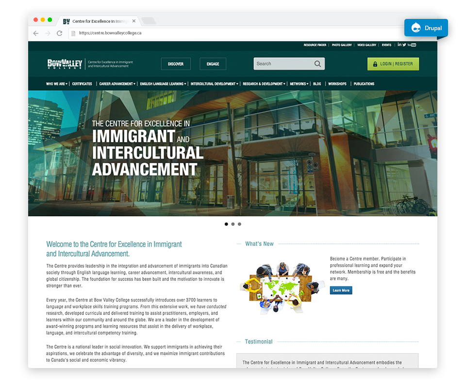 Centre for Excellence in Immigrant and Intercultural Advancement - Bow Valley College
